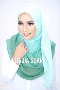 Image 2 - Een Stuk Vrouwen Ombre Hijab Sjaal Mode Moslim Hijaabs Viscose Katoen Islam Hoofd Wraps Vrouwen Foulard Maxi Sjaal Sjaals