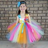 Bright Color Candy Tutu Dress With Headband Easter Spring Summer Girls Dress Kids Photography Prop Clothing