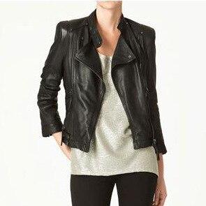 New 2017 Spring Autumn Women PU Leather Jacket Black Casual PU Jackets Ladies Motorcycle Fashion Punk Outwear Coat