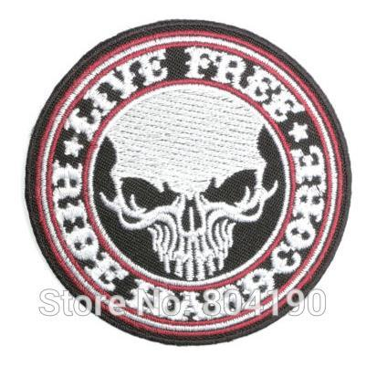LIVE FREE RIDE HARDCORE Military Biker MC Motorcycle Vest Patch Embroidered SEW ON IRON ON Vest Badge