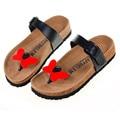 New 2016 Women Sandals Summer Fashion Flip Flops Cartoon Cute Shoes Beach Slippers Cork Slippers Sandals Slides Plus Size 35-40