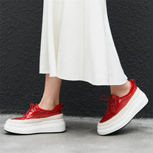 Tennis Shoes Womens Genuine Leather Wedges Platform Evening Pumps Breathable Mesh High Heel Creepers Summer Punk Oxfords
