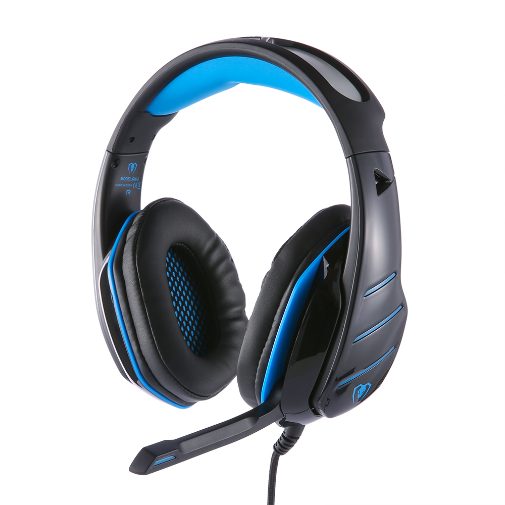 Beexcellent GM-3 Wired Stereo LED Light Bass Over-ear Professional Gaming Headphones with Mic for Laptop Tablet mobile phone PS4