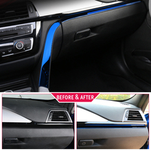 Car styling interior Copilot Glove box handle decoration cover trim stainless steel Stickers For BMW 3 series F30 F34 LHD 2 pcs car styling interior copilot glove box handle decoration cover trim stainless steel stickers for bmw 3 series f30 f34 lhd
