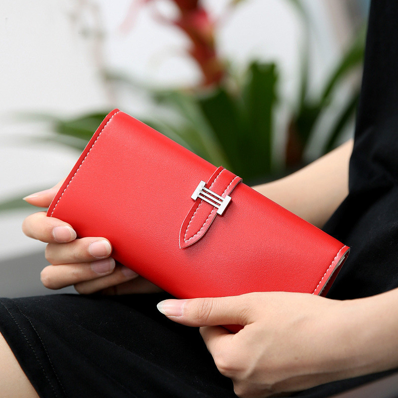 eTya Simple Fashion Korea Pu Leather Women Walllet Hasp High Capacity Clutch card Bag Multifunction money clip Girl Female Gift недорго, оригинальная цена
