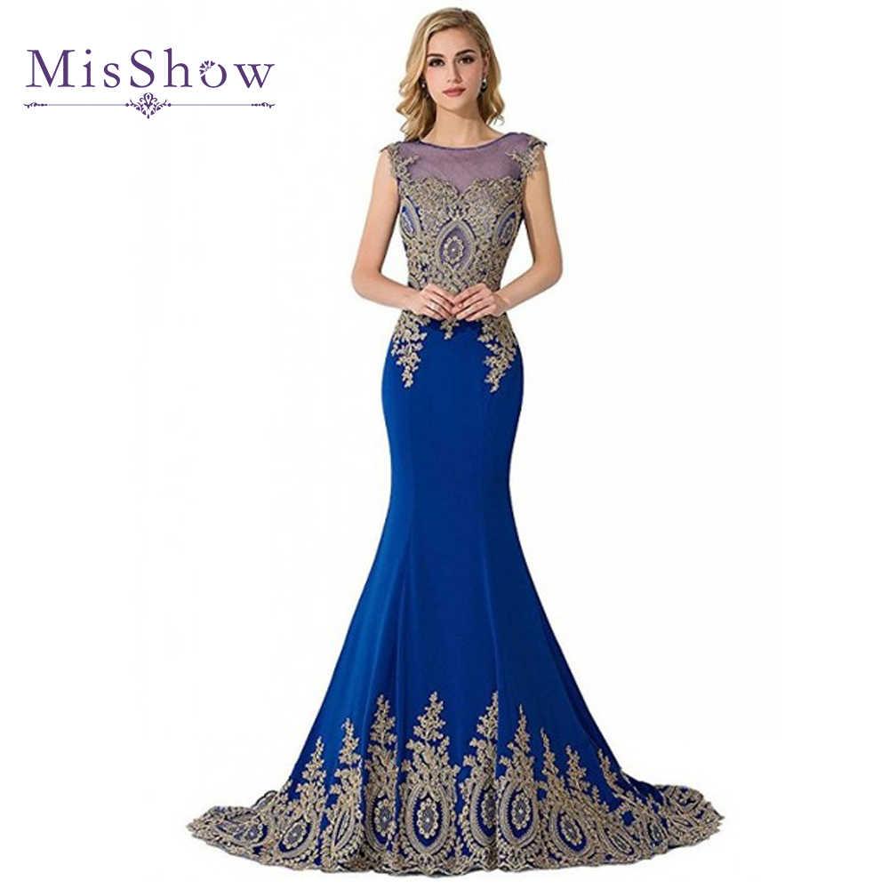 590e836702dd8 Detail Feedback Questions about Long Mermaid Plus size Evening Dresses 2019  Dubai Arabic Appliques Royal Blue Evening Formal Party Gowns vestido de  festa ...