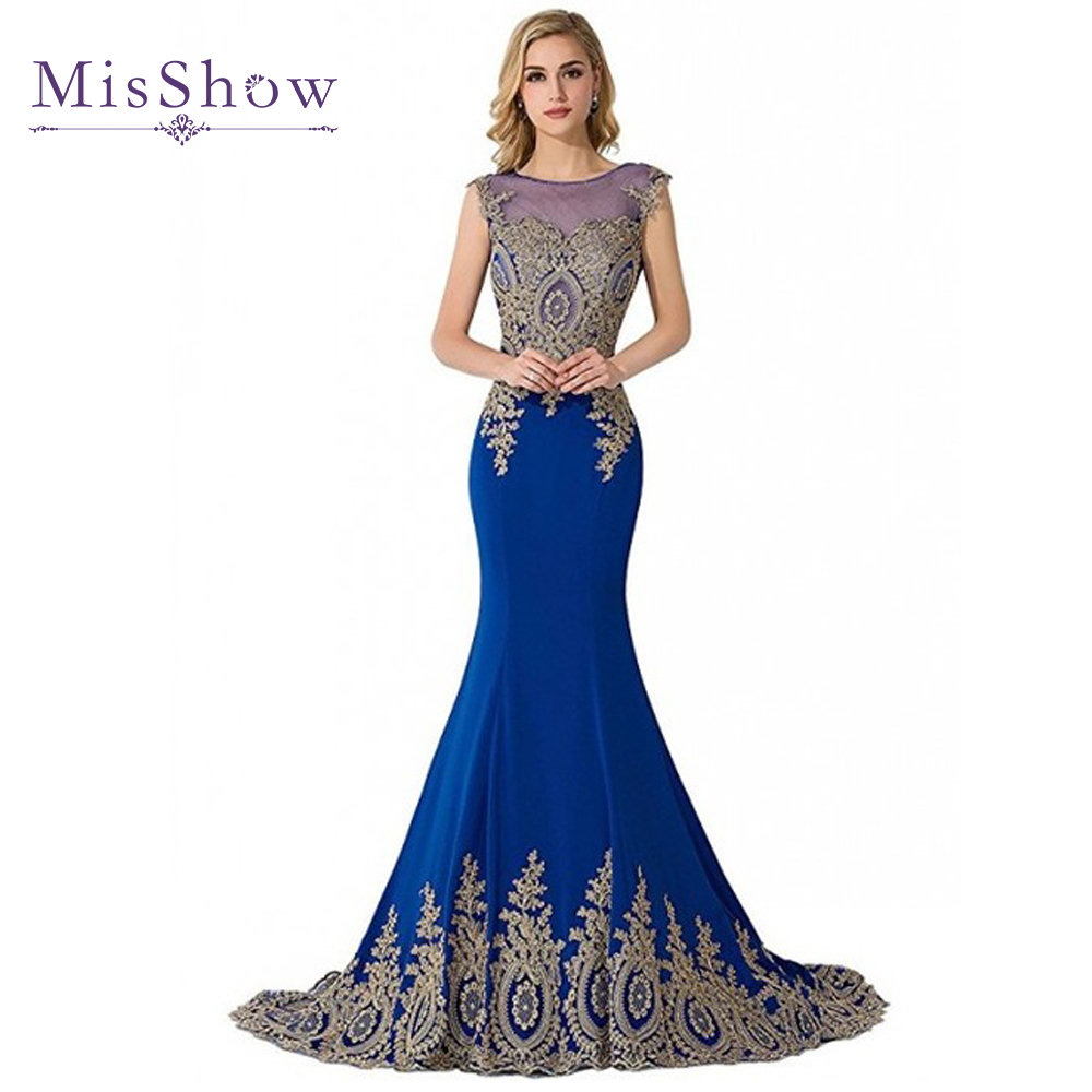 Long Mermaid Plus size Evening Dresses 2018 Dubai Arabic Appliques ...
