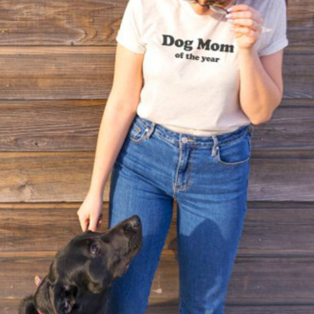b9877bda Dog Mom of The Year Graphic Tee Shirt Women T-shirts Dogs Lover Tops Puppy  Tumblr Clothes