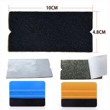 EHDIS 10 adet/takım Vinil Film Araba Sarma Keçe Kumaş 10 cm Silecek Otomatik Pencere Tonu Aracı Temiz Kazıyıcı Yok scratch Keçe Kumaş Kenar