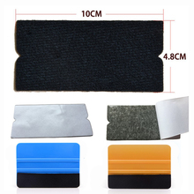 Ehdis 10 개/대 비닐 필름 자동차 랩 펠트 패브릭 10 cm 스퀴지 자동 창 색조 도구 깨끗한 스크레이퍼 없음 스크래치 펠트 천 가장자리