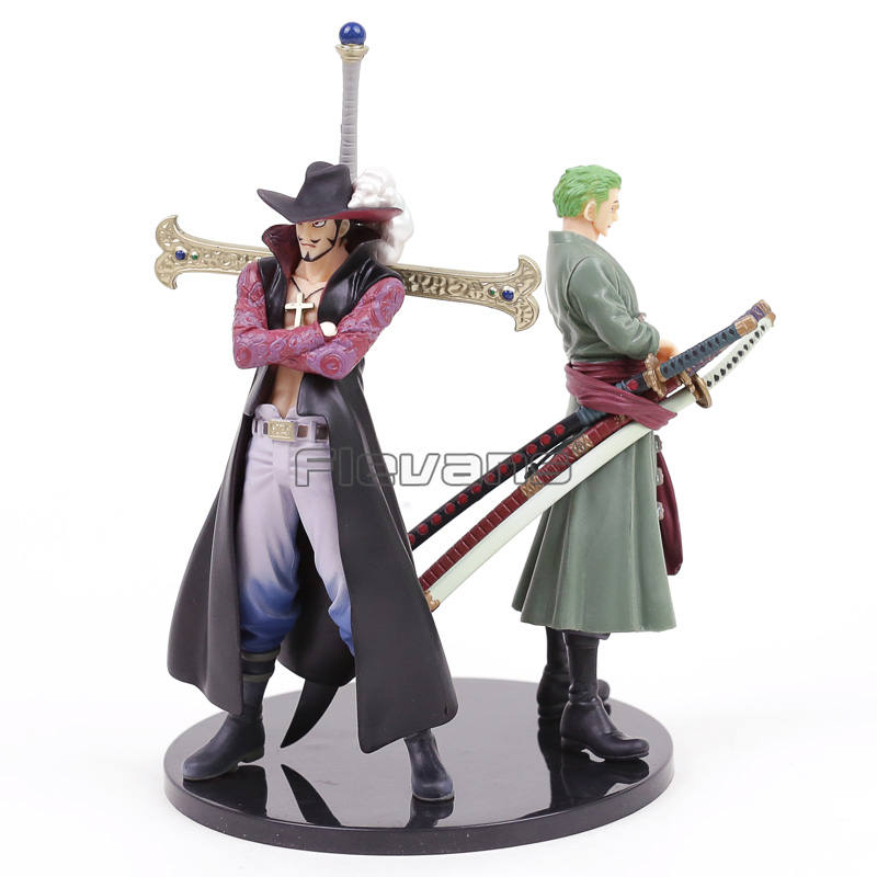 Anime <font><b>One</b></font> <font><b>Piece</b></font> <font><b>Ichiban</b></font> <font><b>Kuji</b></font> Roronoa Zoro+ Dracule Mihawk PVC Figures Collectible Model Toys image