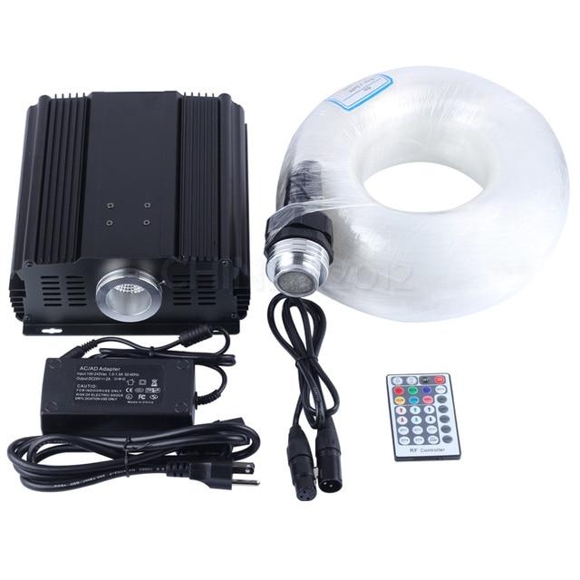 DMX 45 Watt RGB 28key remote led lichtleiter licht 700 stränge 5 mt ...