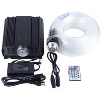 DMX 45W RGB 28key remote LED optical fiber light 700 strands 5m 0.75mm+1.0mm+1.5mm+2.0mm