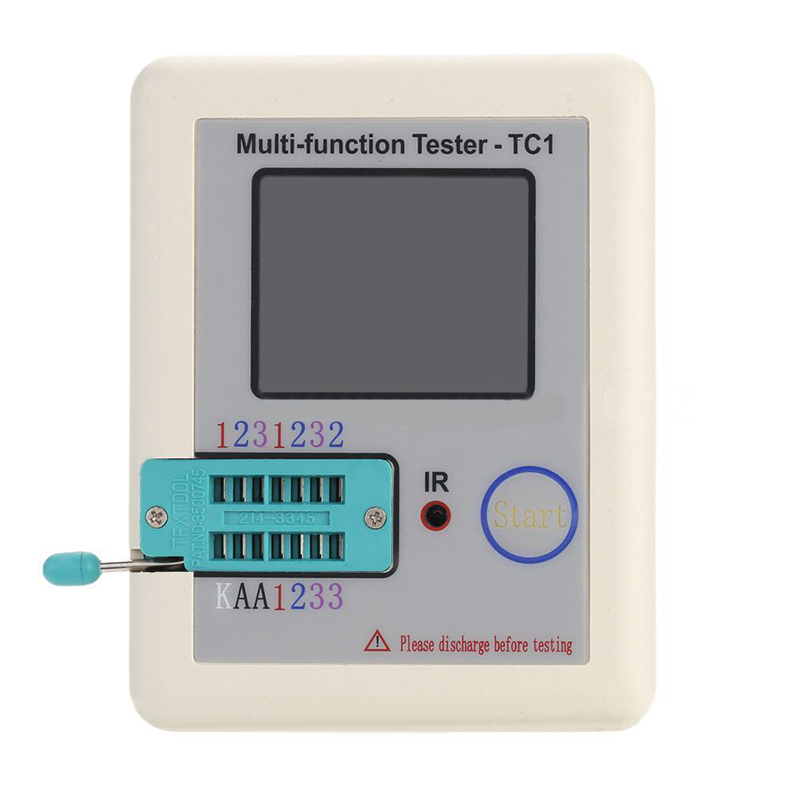 New Mayitr Pocketable Graphics Display Multifunction Tester TFT Diode Triode Capacitance Voltage Meter LCR ESR Transistor Tester