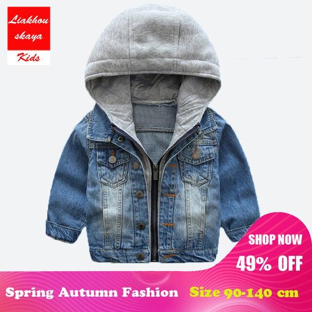 9ce993559 Liakhouskaya 2018 Hot Sale Baby Kids Boys Jean Denim Jackets Coat ...