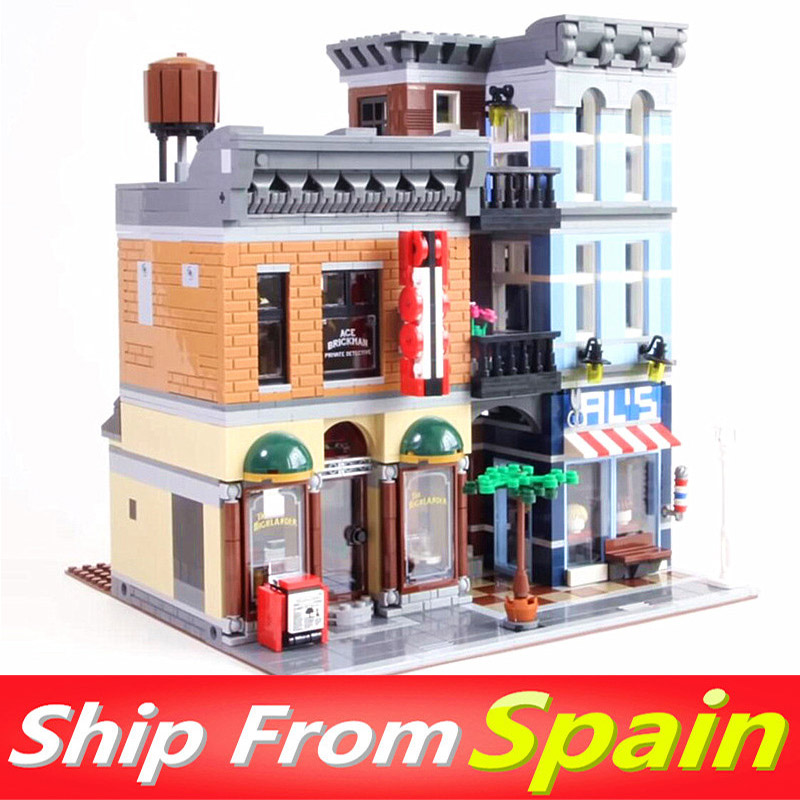 30008 2262Pcs Detective's 15042 Building Blocks ของเล่น City Street ใช้งานร่วมกับ 10264 10246 creator-ใน บล็อก จาก ของเล่นและงานอดิเรก บน   1