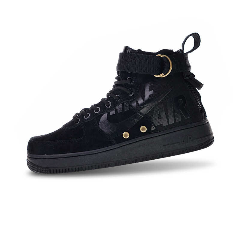 Nike SF Air Force 1 Utility Mid Skateboarding Shoes Sneakers Sports Black for Men 917753 002 40 45