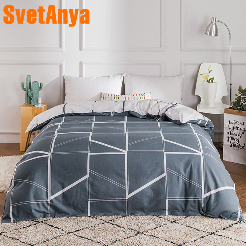 100% Cotton Duvet cover Comforter/Quilt/Blanket case 100% Cotton with Zipper Twin Full Queen King double single size