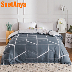 100% algodão capa de edredão consolador/colcha/cobertor caso 100% algodão com zíper gêmeo completa rainha rei duplo único tamanho