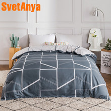 100% Cotton Duvet cover Comforter/Quilt/Blanket case 100% Cotton with Zipper Twin Full Queen King double single size(China)