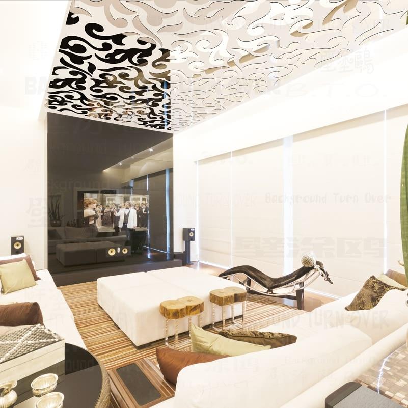 Hot Fashion Europe plafondspiegel papieren spiegelstickers - Huisdecoratie