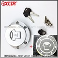 Fuel Gas Tank Cap Cover Keys and Carbon stickers for Honda CB600F Hornet 07-11 CB750 F2 92-10
