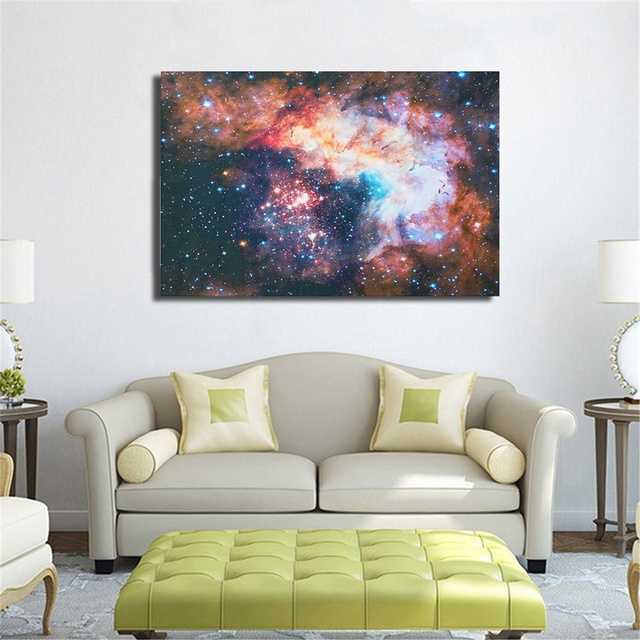 24x36 inch fashion universe space star starry sky art silk poster