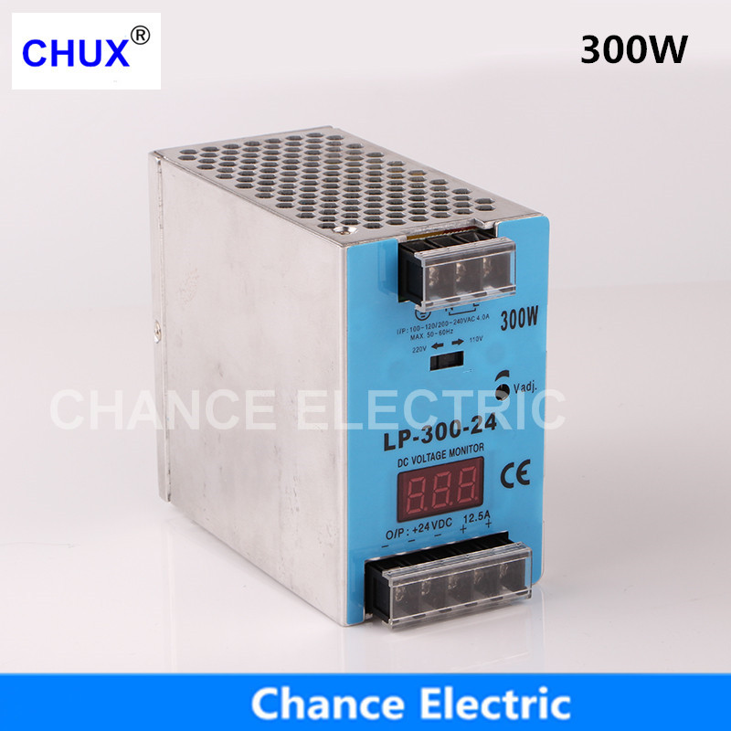 цена на 24V 12V digital display Switching Power Supply 300W Mini size Din Rail Single Output 100-240V input LP.300W Power Suppliers