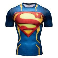 Batman VS Superman Cool 3D T Shirt Men Compression Short Sleeve T-shirt Top Bodybuilding Fitness Male Fashion Tshirt  Anime Tee
