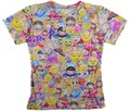 Alisister Nuevas mujeres/hombres Emoji Sonrisa Camiseta de la Impresión 3d Teléfono Móvil Colegio camisetas de Caracteres de Manga Corta ropa