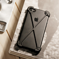 D-parque anti cair para iphone 7 bumper case de alumínio do metal ultra fino para o iphone 7 plus case quadro preto capa protetora