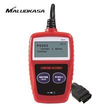 MALUOKASA MS309 OBDII EOBD Car Fault Diagnostic Scanner KW806 OBD2 Error Code Reader Scan Tool Engine Check Universal for Cars