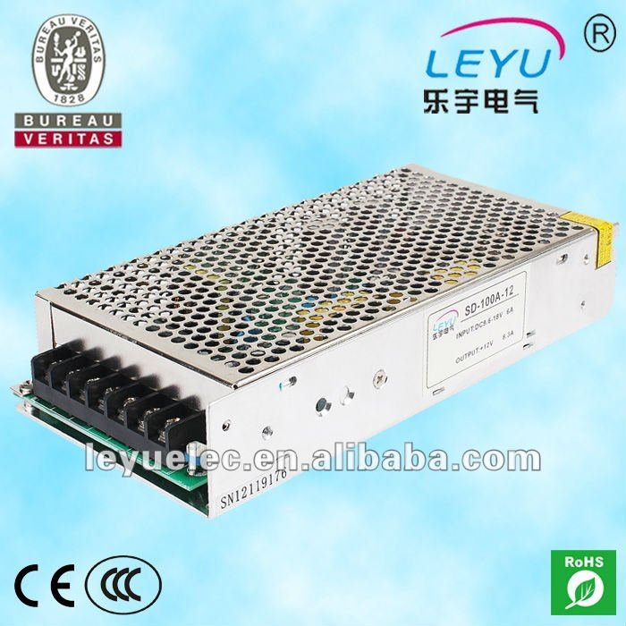 High frequency 19-36V input DC DC constant voltage converter 100w 12V led dc power supply approved CE Rohs spe 100w 12v 100w 8 3a led power supply converter black