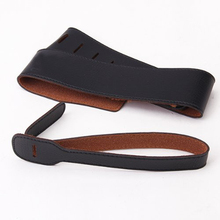 Black Guitar Strap PU Leather