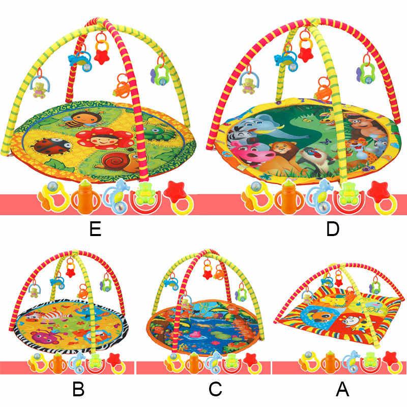 Anak Anak Bayi Kebugaran Rak Game Selimut Merangkak Karpet Mat Gym Mainan Perkembangan Intelektual M09