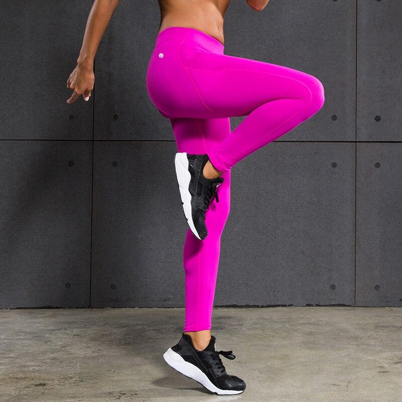 Prix pour Marque de Sexe Taille Haute Étiré Pantalons Sport Gym Vêtements Spandex Collants Running Femmes Sport Leggings Remise En Forme Yoga Pantalon FBF032