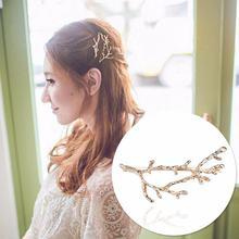 Модная заколка для волос с растениями женщин Винтажная эмалированная