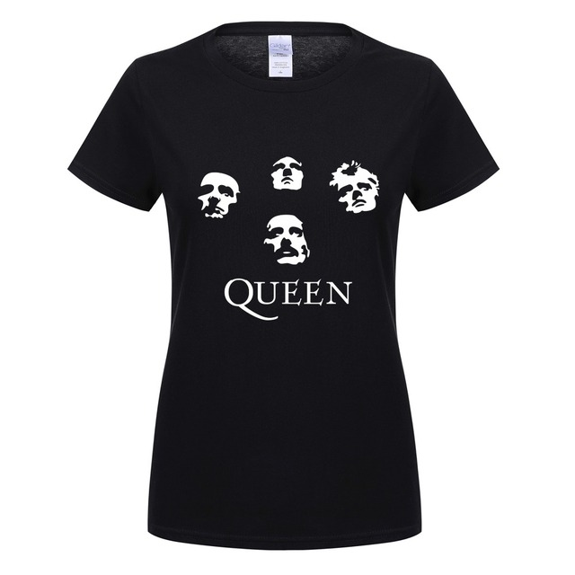 356a14f38eb1e Summer Women T Shirts Classic Rock Band Queen T-shirt Cool Printed T-shirt  Women Cotton Short Sleeve Heavy Rock Tops Tee OT-155