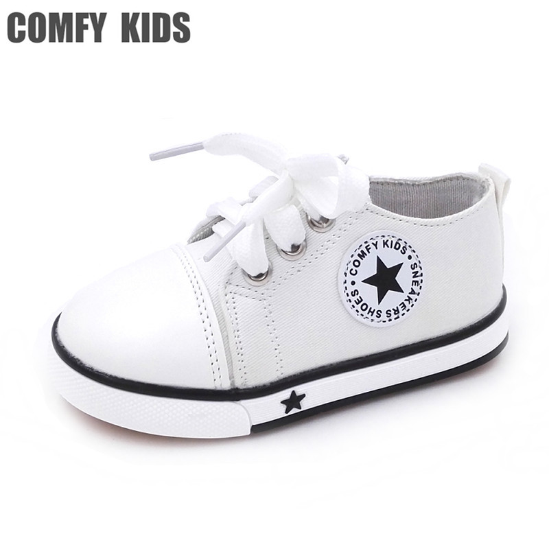 Hot Selling Comfy Flat With Child Sneakers Canvas Shoes Inside 13-15CM Breathable Cow Muscle Sole Boys Girls Canvas Kids sneaker