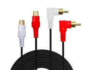 LBSC Premium Gold Plated 2 RCA Male To RCA Female Audio Extension Cable Red White