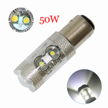 цена на 1PCS * High Power S25 1157 P21/5W 10 smd Chip Led Light Bulb Car Reverse Backup Light Brake Light Car Brake Lamps DC 12V 6000k