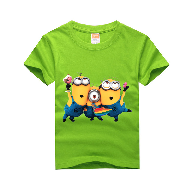 Amapo boys 2016 new style summer T-shirts 3 minions Shirts Cotton Kids Tops print 8 color choice t shirts size 3-14T