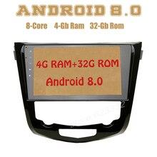 Android 8,0 автомобиль радио gps для nissan X-trail Qashqai с восьмиядерным PX5 4G Оперативная память 32G Встроенная память Wi-Fi 4g usb Auto стерео Multimed