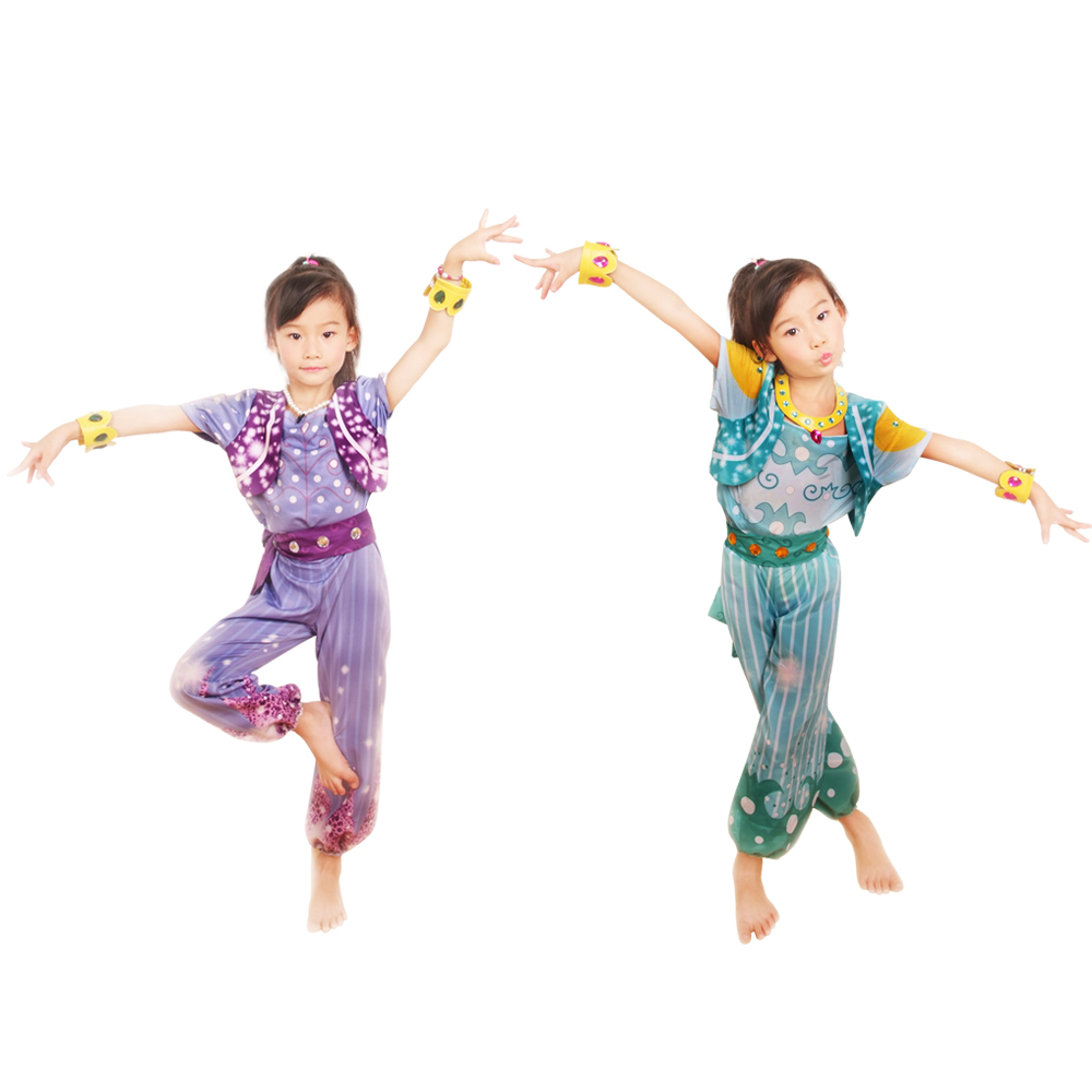 Shimmer And Shine Cosplay Boxed Shimmer Dress Up Set Pre School Costume Girls Outfit Shimmer And Shine Costume