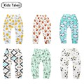 SK093 2017The girl boy children's trousers baby cotton pants fox baby panda born trouser animals printed children's clothing