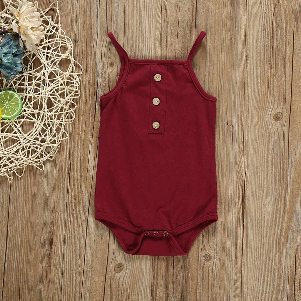 3 สีใหม่ Unisex เสื้อผ้าเด็กผู้หญิงแขนกุดเด็กวัยหัดเดินทารกแรกเกิดเด็กทารก Romper เด็ก Onesie rompers