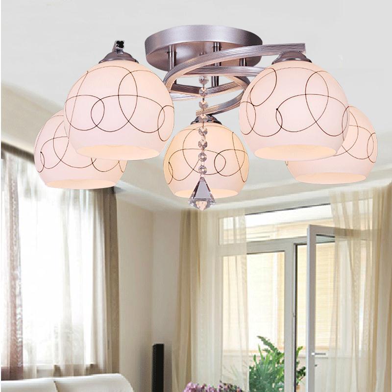Modern Minimalist Dining Room Table LED Five Head Three Ceiling Light Living