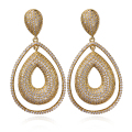 Women Earring big Drop Earrings gold plated with CZ stone Classic style fashion jewelry High quality Free shipment
