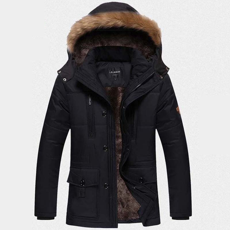 Winter jacket men coats for men Down Parkas Chaqueta male fleece sportswear Windproof jackets plus size L~5XL