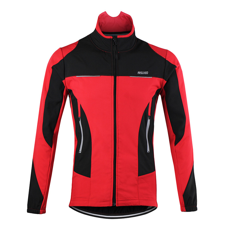 ФОТО Top Quality Cycling Jacket Windproof Sports Coat MTB Bike Cycling Jersey Breathable Winter Warm Up Bicycle Clothing 3 Colors